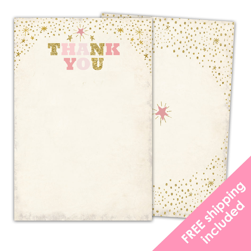 Twinkle Twinkle Little Star Thank You Card for a Twinkle Twinkle Little Star Birthday Party