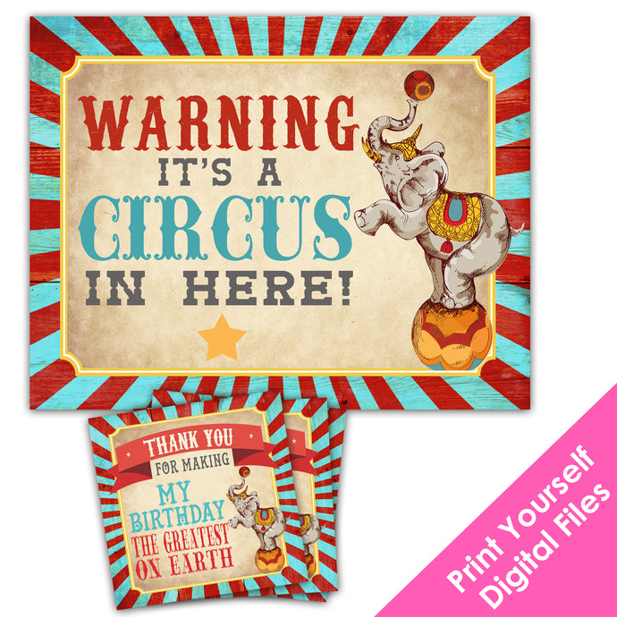 Printable Greatest Showman Party Decorations for a Vintage Circus Themed Party