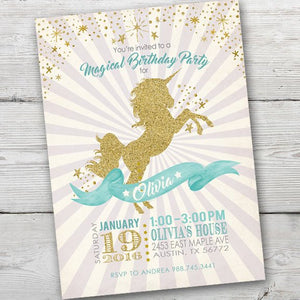 Unicorn Invitation, Unicorn Party Invite, Unicorn Birthday Party Invitation, Unicorn Invitations, Unicorn Invites, PRINTABLE, Unicorn Party