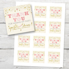 Load image into Gallery viewer, Twinkle Twinkle Little Star Thank You Tags, PRINTABLE Twinkle Twinkle Little Star Gift Tags, DIY Thank You Tags Instant Download