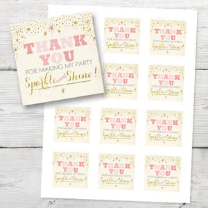 Twinkle Twinkle Little Star Thank You Tags, PRINTABLE Twinkle Twinkle Little Star Gift Tags, DIY Thank You Tags Instant Download