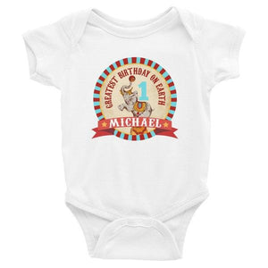 Vintage Circus Birthday Infant Bodysuit Onesie, Vintage Circus Birthday T Shirt