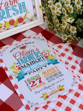 Load image into Gallery viewer, Farmers Market Birthday Invitation for a Farmer's Market Birthday Party Theme