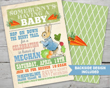 Load image into Gallery viewer, Peter Rabbit Baby Shower Invitation, Peter Rabbit Invitation, Rabbit Invitation, Beatrix Potter Invitation, PRINTABLE, Baby Shower Invites