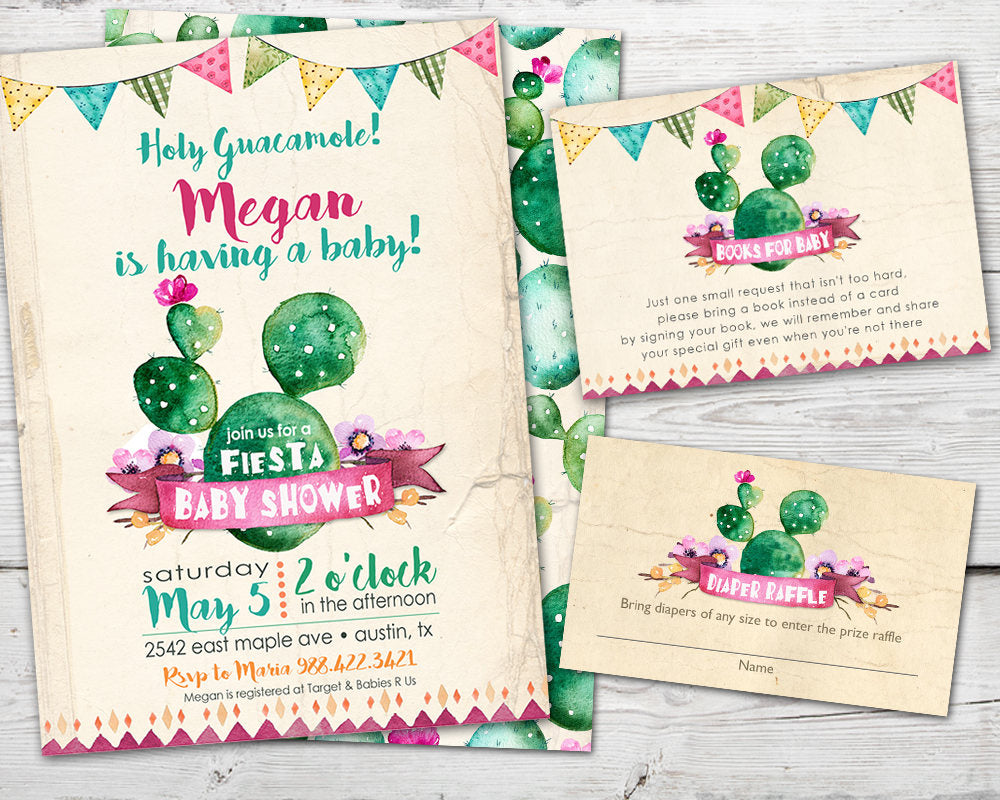 Printable Cinco De Mayo Baby Shower Invitation for a Fiesta Baby Shower