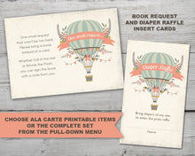 Load image into Gallery viewer, Hot Air Balloon Baby Shower Invitation, Hot Air Balloon Baby Shower Invite, Up Up and Away Baby Shower Invitation, Up Up and Away Invitation