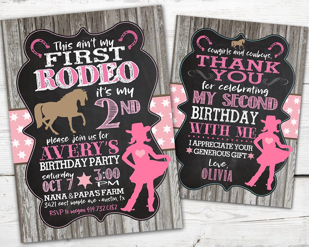 First Rodeo Birthday Invitation, First Rodeo Birthday, Cowgirl Birthday Invitation, Horse Birthday Party, DIGITAL, This Ain't My First Rodeo
