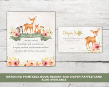 Load image into Gallery viewer, Printable Deer Baby Shower Invitation Set for a Woodland Deer Baby Shower Party