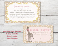 Load image into Gallery viewer, Printable Giraffe Baby Shower Invitation for a Giraffe Baby Shower Party