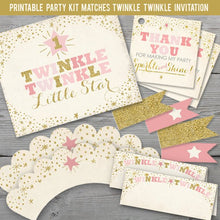 Load image into Gallery viewer, Printable Twinkle Twinkle Little Star Party Kit  for a Twinkle Twinkle Little Star Birthday Party
