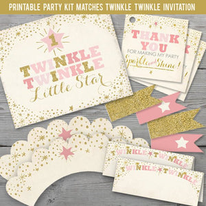 Printable Twinkle Twinkle Little Star Party Kit  for a Twinkle Twinkle Little Star Birthday Party