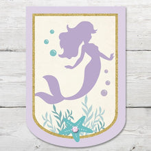 Load image into Gallery viewer, Mermaid Birthday Banner PRINTABLE, Mermaid Party Decoration, Little Mermaid Banner, Mermaid Birthday Party, Mermaid Party Decoration