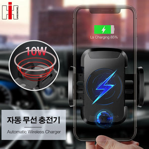 Hisomone Qi Wireless Charger For iPhone X 8 8 Plus Automatic Sensor Charge Wireless Charging Car Phone Holder For Samsung S9 S8