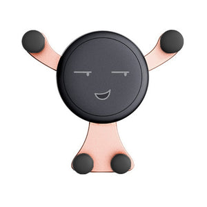 Fimilef Gravity Smartphone Stand Car Cell Phone Holder Smile Face Snap-type PhoneS GPS Stand Universal Car Air Vent Mount Holder