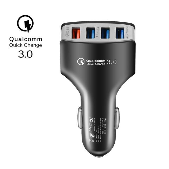 Quick Charger 3.0 Car Charger Adapter 7A QC3.0 Turbo Fast Charging Car charger 4 USB Car Mobile Phone Charger for iPhone Xiaomi