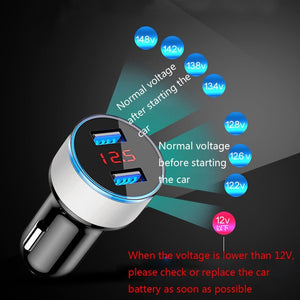 3.1A Dual USB Car Charger 2 Port LCD Display 12-24V Cigarette Socket Lighter for most phones/tablet pc/navigator/PDA/PSP/MP3/MP4