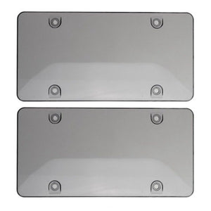 2Pcs/Set Clear Smoke License Plate Frame Cover Bug Shield Tag Protector Car Truck Accessories