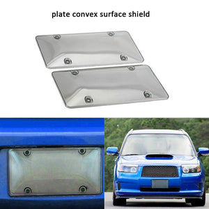 2PCS/SET Clear Car License Plate Cover Frame Shields License Plate Bubble Shields UV Protection Prevents J3