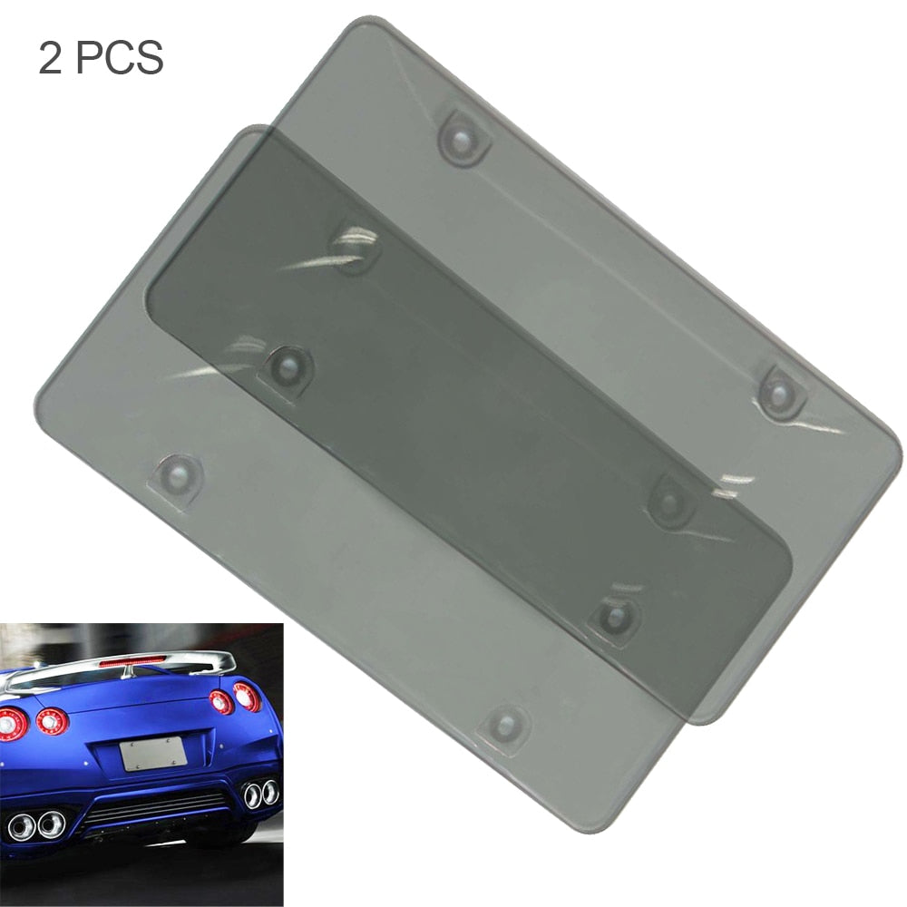 2pcs Waterproof Bubble Frame Cars License Plate License Tag Bumpers License Plate Tap Holder Accessorie Protector Cover