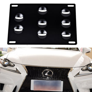 New Bumper Tow Hook License Plate Mounting Bracket Holder For LEXUS IS CT IS250 IS300 ISF ES350 GS450 RX350 GSF