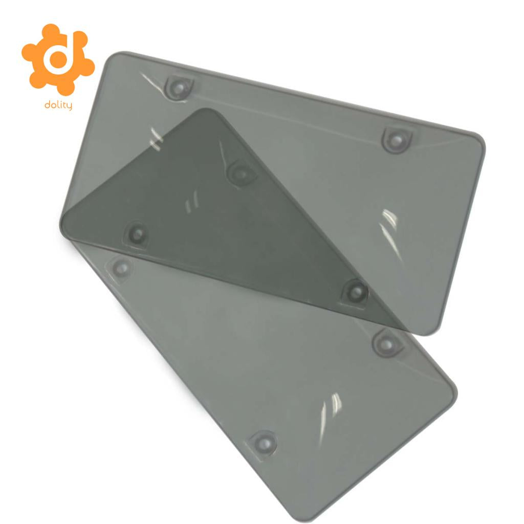 2 Pieces Car Number License Plate Frame Holder Mount Board Front/Rear Grey