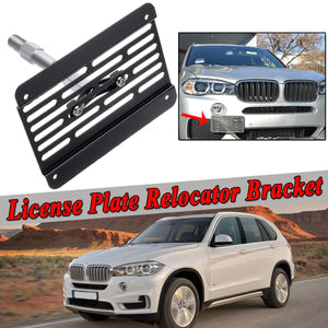Car Tow Hook License Plate Holder Frame Relocator Bracket Mount Front Bumper For BMW 1/3/5Series E90 E91 E82 E88 E92 E93 E39