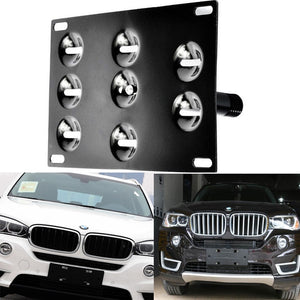 Tow Hook Bracket License Plate Holder Mount License Plate Relocator Frame for BMW E61 E63 E65 E82 E85 E88 3 5 6 8 Z Series