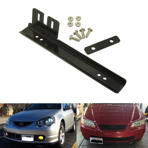 Universal Front Bumper License Plate Relocator Frame Bracket Holder Bar With JDM Fit Honda Civic Acura Integra Silvia Conversion
