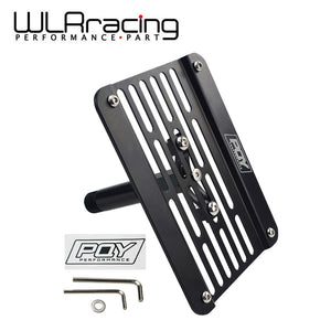 WLR RACING - Multi Angle Tow Hook Mount License Plate For LEXUS ES 2007-UP with WLR Sticker WLR-LPF03