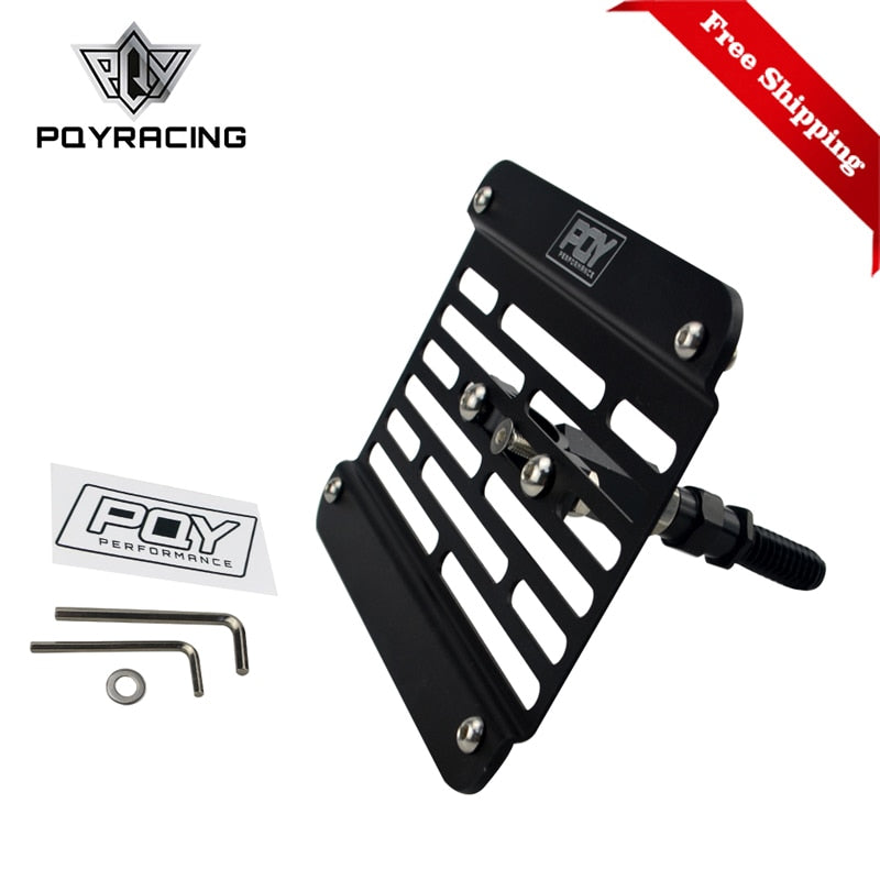 Free Shipping Multi Angle Tow Hook Mount PQY License Plate For BMW E 2008-2012 with PQY Sticker PQY-LPF06