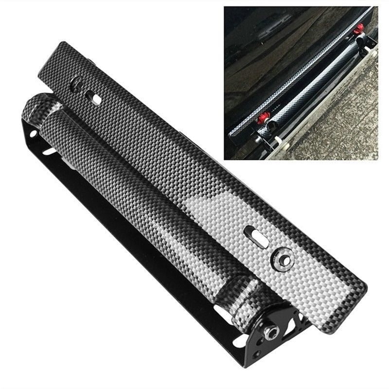 Carbon Fiber Racing Number Plate Auto Mount Bracket Car-styling Universal Adjustable Car License Plate Frame Holder