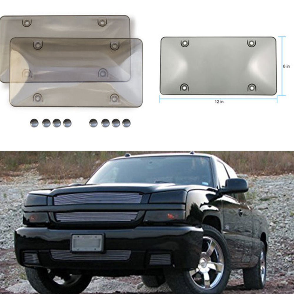Vehemo License Plate protection Cover with Free 4  Transparent Plate Cover Anti-dustproof Ash Dust 2018 Newest Car-styling