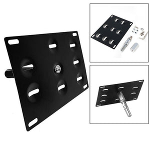 Front Tow Hook License Plate Mounting Bracket Holder For Bumper BMW 1 3 5 Series