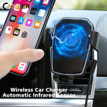 Load image into Gallery viewer, CASEIER Car Wireless Charger For iPhone X XR XS Max Qi Fast Wireless Charging Gravity Holder For Phone In Car For Samsung Stand