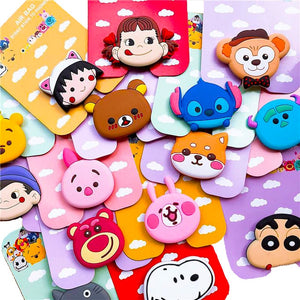 wholesale pop Universal mobile phone stretch bracket Cartoon air bag Phone Expanding phone Stand Finger car phone Holder
