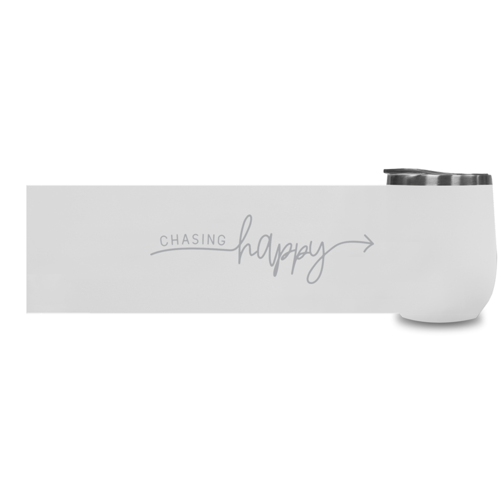 Chasing Happy Wine Tumblers