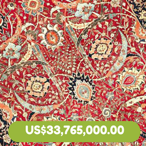 Oriental Carpet Sold at Auction-US$33,765,000.