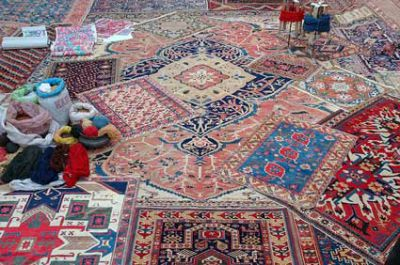 Layering Persian and Oriental Rugs