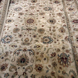 "Indian Rug Kashan 8' 9"" x 11'-Rug District Oriental Rug Experts"