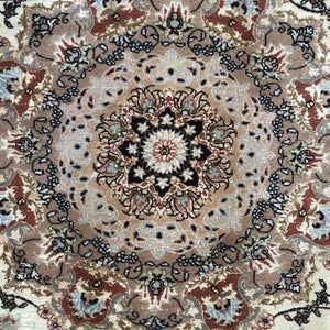"Persian Rug Tabriz 5' x 6'6""-Wool & Silk-Rug District"