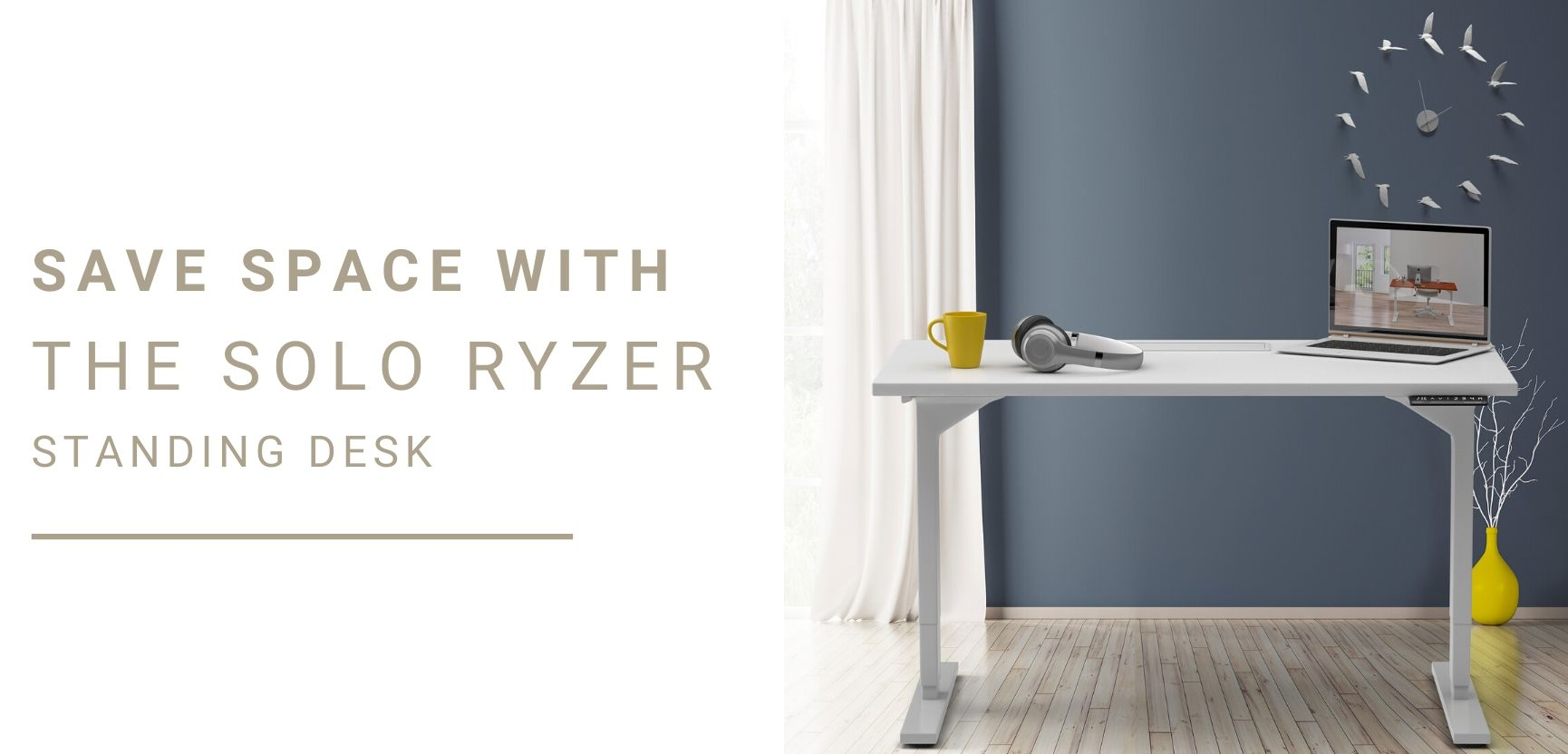 Save Space with the Solo Ryzer Adjustable Standing Desk