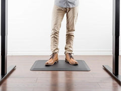 Anti-fatigue mat for work at standing desk