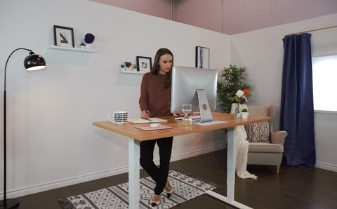 Photo of a girl for standing desk