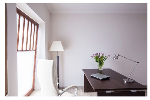 Comfortable space to manage business-related tasks from home