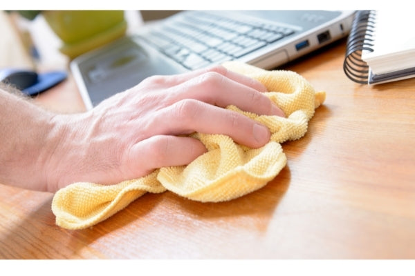 Use a lint-free cloth to softly buff out the scratch