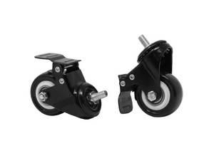 "2"" Lockable Caster Wheels - Set of 6 - Black"