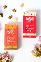 Pure Kojic Acid Skin Lightening Soap For Hyperpigmentation, Dark Spots, Sun Damage, Uneven Skin Tone (2.82 oz / 2 Bars) : Beauty