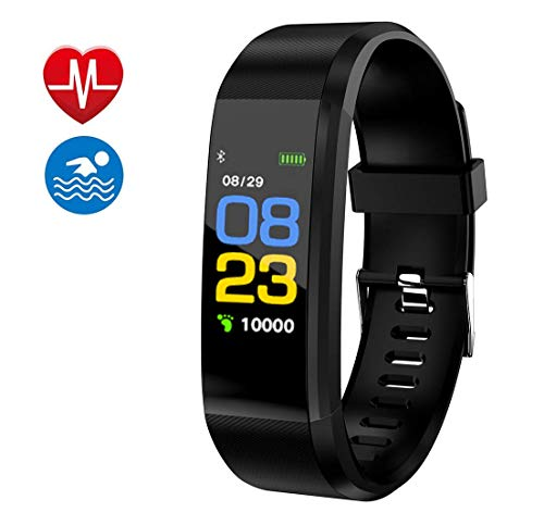 Smart Watch Fitness Tracker, Fitness Watch, Heart Rate Monitor, Waterproof Smart Fitness Band with Step Counter, Calorie Counter, Pedometer Watch for Kids Women and Men (Black2) : Gateway