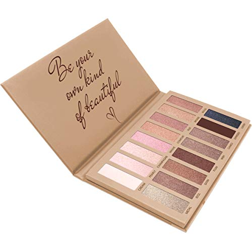 Best Pro Eyeshadow Palette Makeup - Matte Shimmer 16 Colors - Highly Pigmented - Professional Nudes Warm Natural Bronze Neutral Smoky Cosmetic Eye Shadows: Beauty