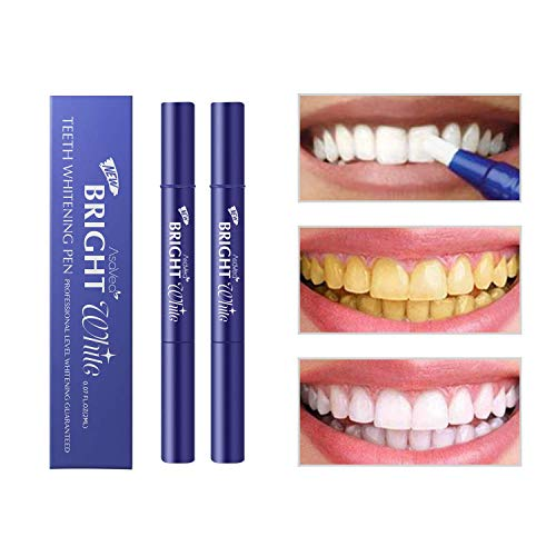 AsaVea Teeth Whitening Pen (2 Pack), Safe 35% Carbamide Peroxide Gel, 20+ Uses, Effective, Painless, No Sensitivity, Travel-Friendly, Easy to Use, Beautiful White Smile, Natural Mint Flavor: Beauty